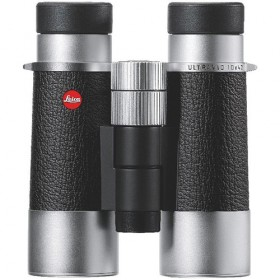 Leica 10x42 Silverline Binocular Silver and Black